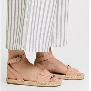 Splendid Becca Ankle Strap Suede Espadrilles